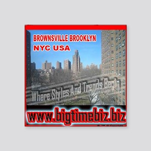 "300XLG_WHITEBG_brownsville Square Sticker 3"" x 3"""